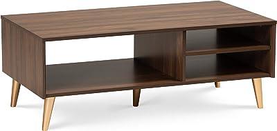 Baxton Studio 174-10957-AMZ Coffee Tables, Walnut Brown/Gold