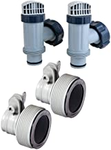 Intex Above Ground Plunger Valves with Gaskets & Nuts + Hose Adapters (2 Each)