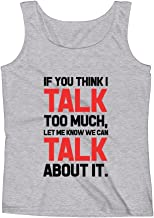 Mad Over Shirts If You Think I Talk Too Much Let Me Know We Can Talk About It Unisex Premium Tank Top