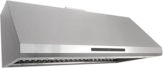 Cosmo COS-18U48 48-in Under-Cabinet Range Hood 1000-CFM Ductless |Convertible Duct|, Kitchen Stove Vent LED Light, Dual-Motor 4 Speed Exhaust, Fan Timer, Permanent Filter, (Stainless Steel)