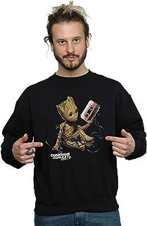 Marvel Men's Guardians of The Galaxy Groot Tape Sweatshirt