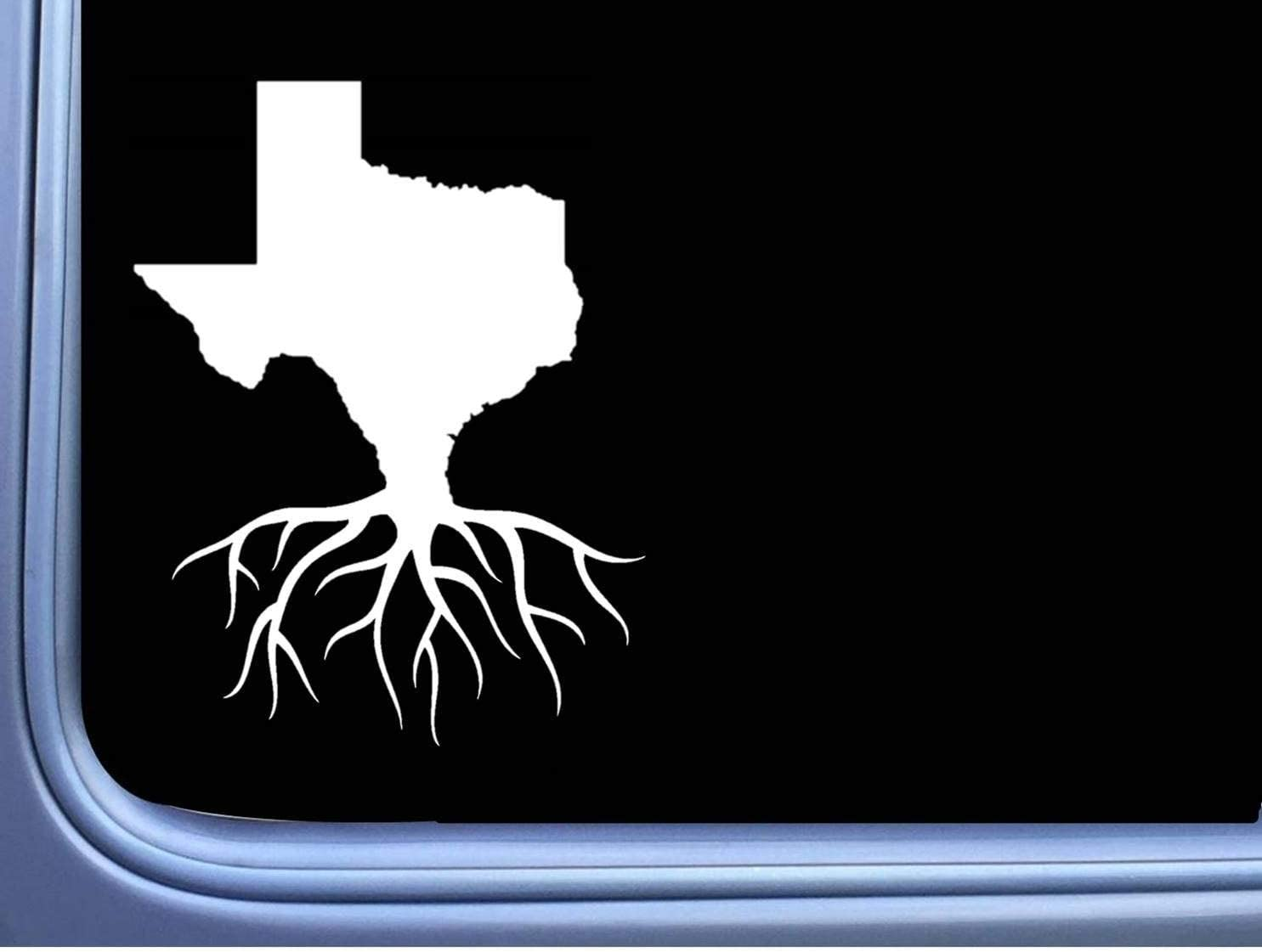 Texas Roots Decal 8 Inches Vinyl Car Sticker Window Decal Stickers Decor We The People Home State White Decal for Car Laptop Trucks Any Flat Surface Custom Best Gift