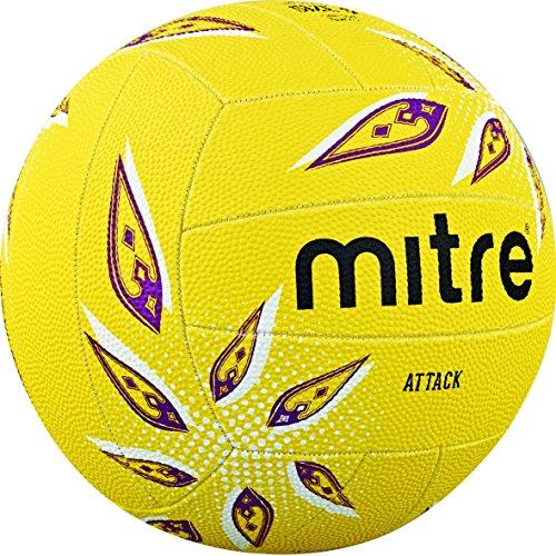 Mitre Attack Trainings Netzball, Unisex, Attack, Yellow/White/Purple