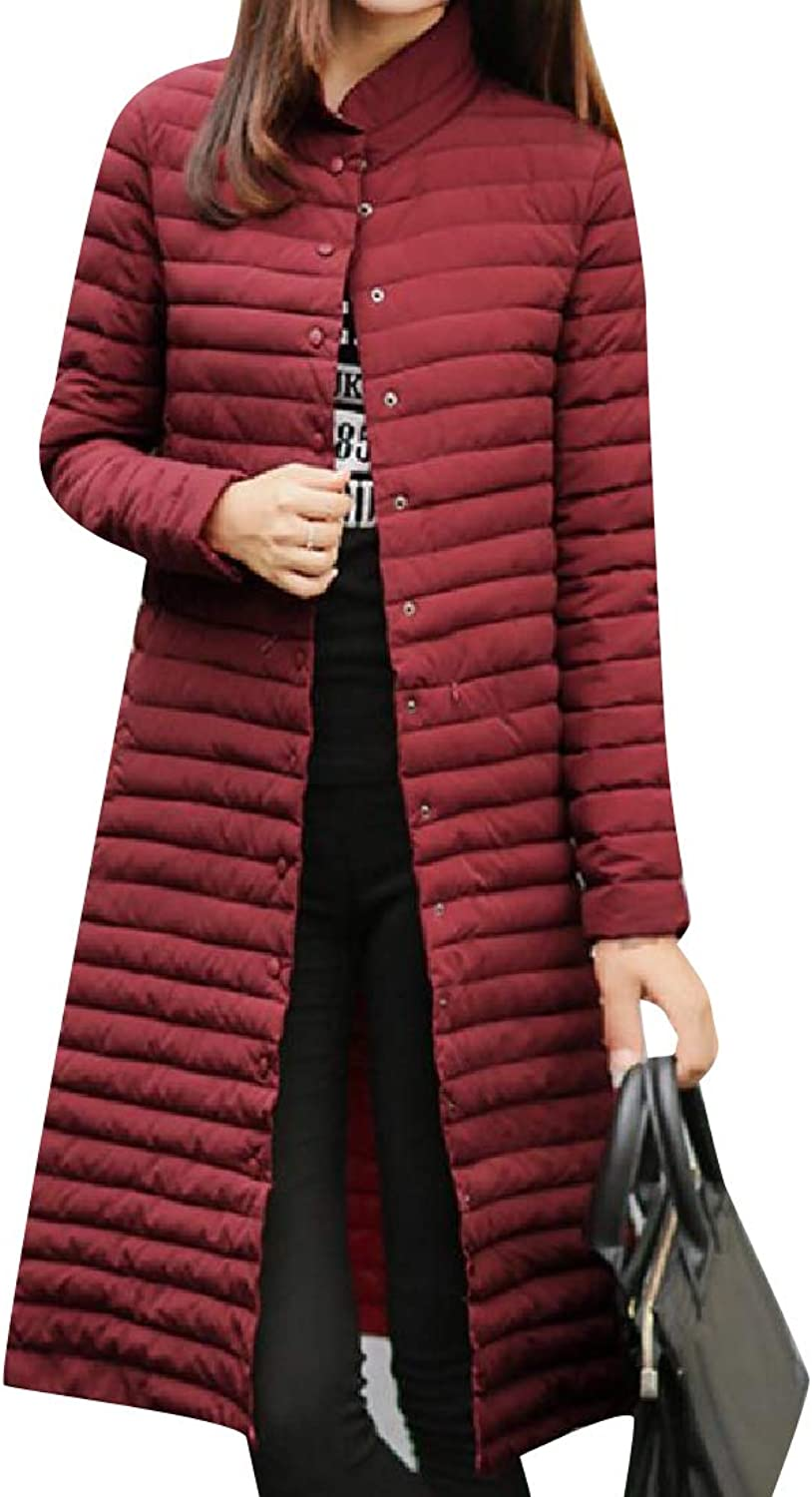 Mfasica Women Winter Warm Maxi and Midi Puffy Jacket with Pockets