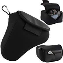 Camera Pouch Case Protective Pouch Camera Bag with Neoprene Protection (Black) for Nikon, Canon, Olympus, Panasonic, Pentax, Samsung, Sony and Others More
