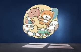 Teddy Bears Toys for Nursery Room Vinyl Color Wall Decal, Teddy Bears Toys for Nursery Room Color Wall Sticker, DP-121 WD (38