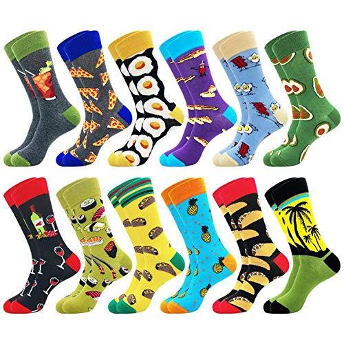 Belloxis Bunte Socken Herren Lustige Witzige Coole Baumwoll Motiv Socken Verrückt Geschenke für Männer