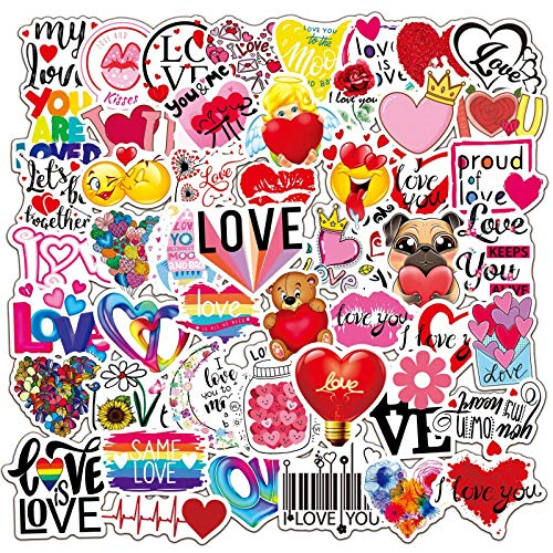WYZNB I LOVE YOU LOVE YOU Love Graffiti pegatinas equipaje maleta portátil teléfono móvil casco mano cuenta coche pegatinas 100pcs