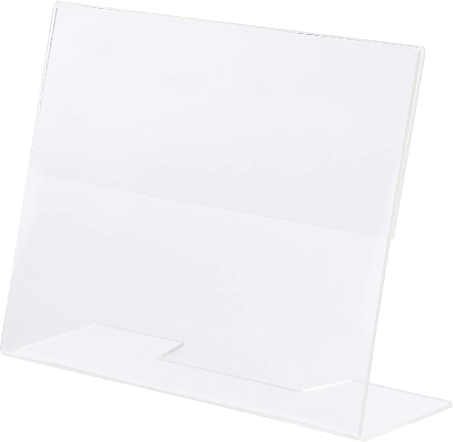 Slanted Sign Holder - 6-Pack 5 7 x Desktop Inches Clear Long-awaited Max 53% OFF Plastic