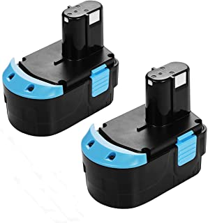 Powerextra 18V 3.0Ah EB1814S Hitachi Replacement Battery for Hitachi EB1812S EB1814SL EB1820L EB1824L EB1826HL EB1830HL C 18DL C 18DLX WR 18DMR WR18DL, 2 Pack