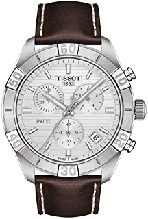 mens PR 100 Chrono Classic Stainless Steel Dress Watch Brown T1016171603100