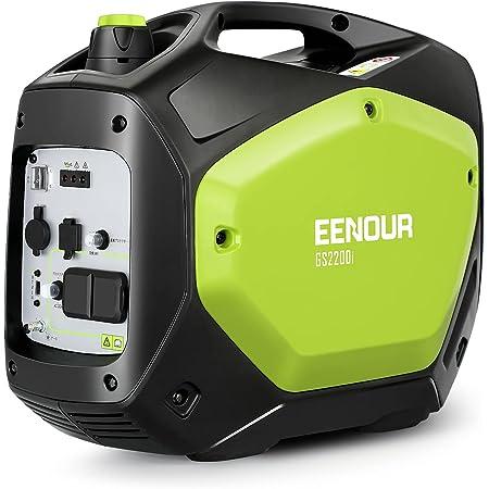 EENOUR インバーター発電機 GS2200i 定格出力1.8kVA 正弦波 防音型 PSE認証 防災製品等推奨品 高出力 静音 ガソリン発電機 ポータブル発電機 AC/DC/USB出力 50Hz/60H切替 24ヶ月保証