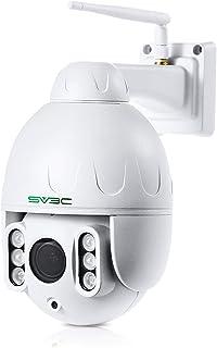 SV3C PTZ WiFi Camera Outdoor, 1080p Wireless Security IP Camera, Pan Tilt 5X Optical Zoom, Two Way Audio, 196ft Night Visi...
