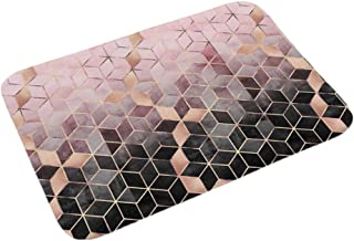 "ESUPPORT Elegant Texture Floor Mat Non Slip Safety Outdoor Entrance Doormat 15.7"" x 23.6"" Bath Rug Machine Washable Mats, ..."