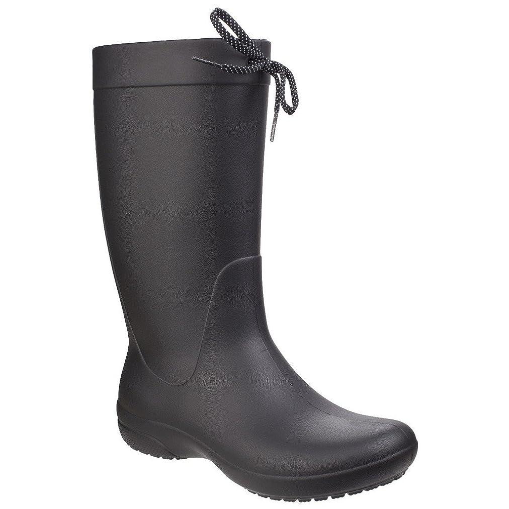 寓話明るくする差し引く[Crocs] (クロックス) レディース Freesail レインブーツ 婦人靴 長靴 ウェリントンブーツ 女性用 (3 UK) (ブラック)
