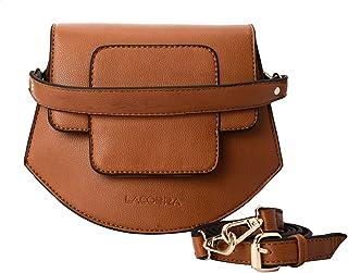 شنطة كروس جلد صناعي بغطاء وحزام للكتف قابل للتعديل للنساء من لاكوبرا - هافان
