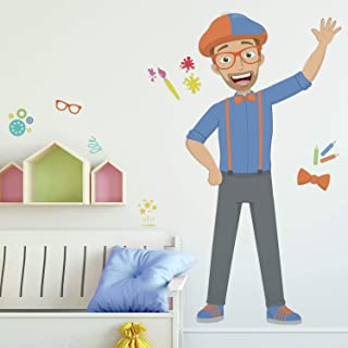 RoomMates RMK4452GM Blippi Peel and Stick Wall Decals, Blue, Orange