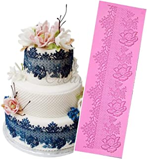 Anyana sugar edible wedding floral flower lace cake silicone Embossing Mat Texture fondant impression lace mat decorating mold gum paste cupcake topper icing candy imprint baking moulds craft