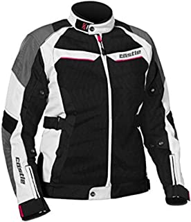 Castle Passion Air Women's Motorcycle Jacket White/Hot Pink MED