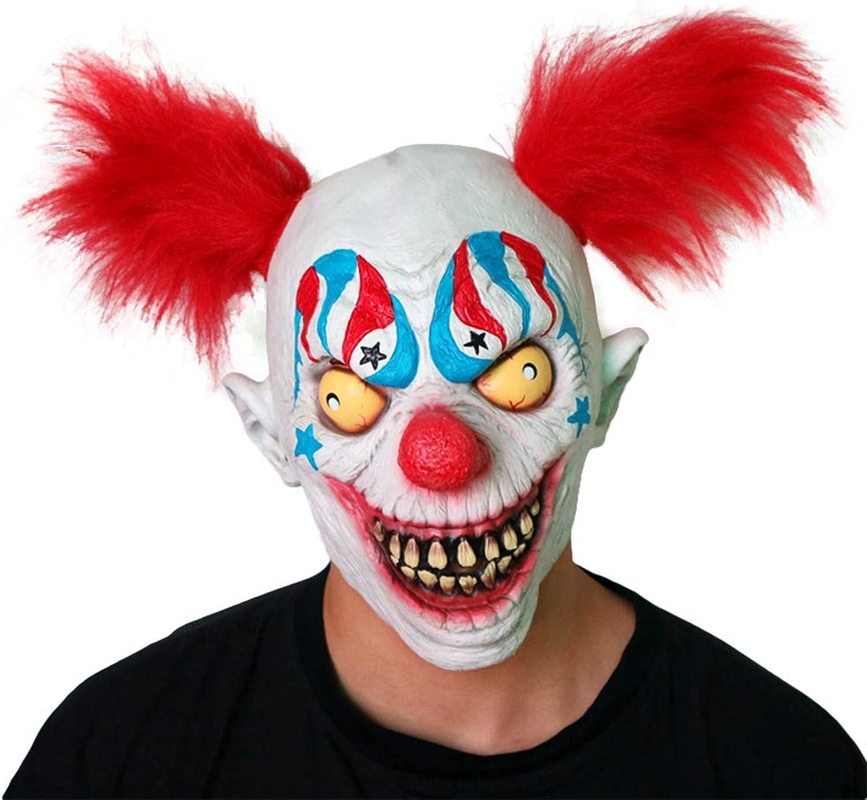Halloween Horror Mask Latex Hair Clown Mask Headgear Headgear Haunted House Props