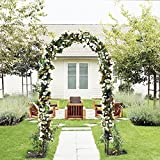 ART TO REAL Outdoor Flower Garden Arch Trellis, Durable Steel Garden Arbor for...