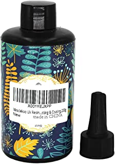 Miraclekoo UV Resin UV Curing Epoxy Resin Hard UV Glue Ultraviolet Curing Solar Cure Resin Sunlight Activated Resin for DIY Jewelry Making Casting & Coating,200g