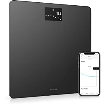 Withings Body - Smart Weight & BMI Wi-Fi Digital Scale with smartphone app, Black