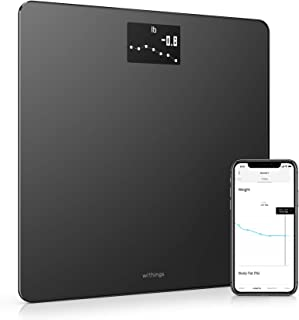 Withings | Body - Smart Weight & BMI Wi-Fi Digital Scale with smartphone app, WBS06-Black
