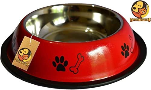 Foodie Puppies Stainless Steel Dog Food Bowl (Medium) product image