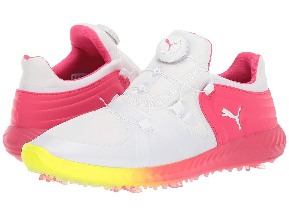 [プーマ] レディースランニングシューズ?スニーカー?靴 Ignite Blaze Sport Disc Solstice White White/Energy Rose 11 (27.5cm) B [並行輸入品]