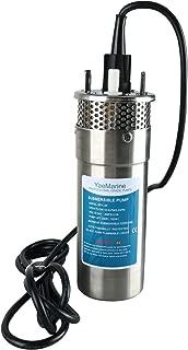 YaeMarine 24V DC Stainless Solar Submersible Pump Solar Deep Well Submersible Well Water Pump 330'/100m Lift 3.2GPM