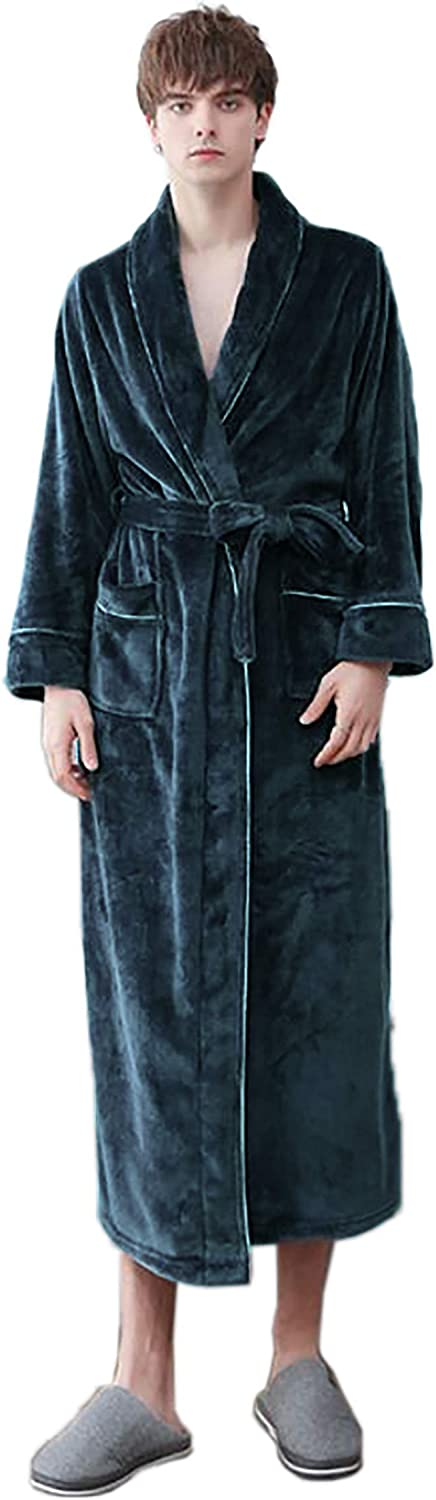 Men's Combed Turkish Cotton Terry Full Ankle Length Hooded Bathrobe