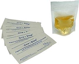 One Step - 50 Pruebas de Embarazo 10 mIU/ml Formato 2,5 mm y 10 Bolsas de Recogida de Muestra Higiénicas