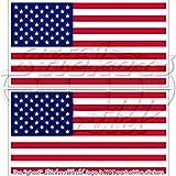 USA United States Amerika Flagge American 119,4cm (120mm) Bumper Sticker, Aufkleber Vinyl X2