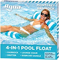 Aqua 3-In-1 Roll-Up Pool Float, Padded Mat For Beach-Land-Water, Roll-Up Mat with Carry Strap
