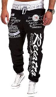 Men's Hip hop Loose Sweatpants Graffiti Sports Jogger Trousers