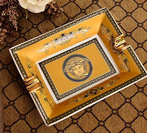 Preisvergleich Produktbild Kewei Aschenbecher,  Keramik-Aschenbecher für Zigarren im Retro-Stil,  für Zuhause,  Wohnzimmer,  Büro,  Arbeitszimmer 4