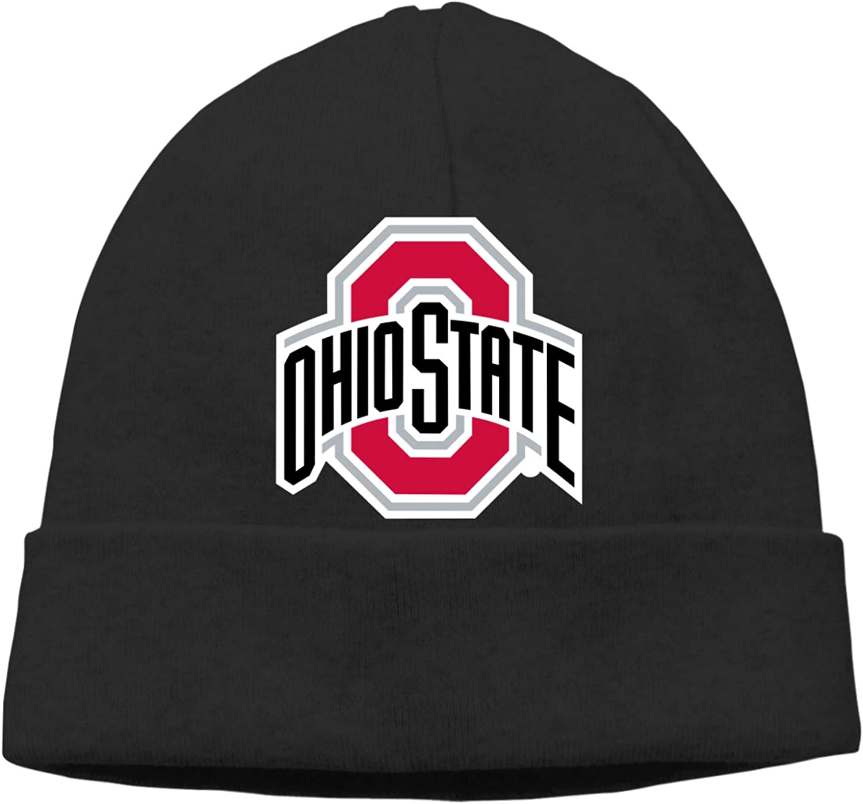 Ali Yee Ohio State University Lima Campus Logo Fashion Beanie Caps Casual Cap Man Women Hats Knitting Hat Warm Hedging Cap Black