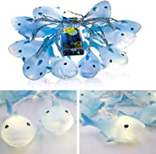 CASTELBELBO Shark Indoor Outdoor Decor String Light, Party Bedroom Garden Decorations Ornaments Supplies, 4.9 ft Battery Operated 10 LED Decorative