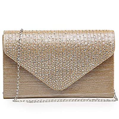 Dasein Women Evening Envelope Handbag Party Prom Clutch Purse Shoulder Cross Body Bag