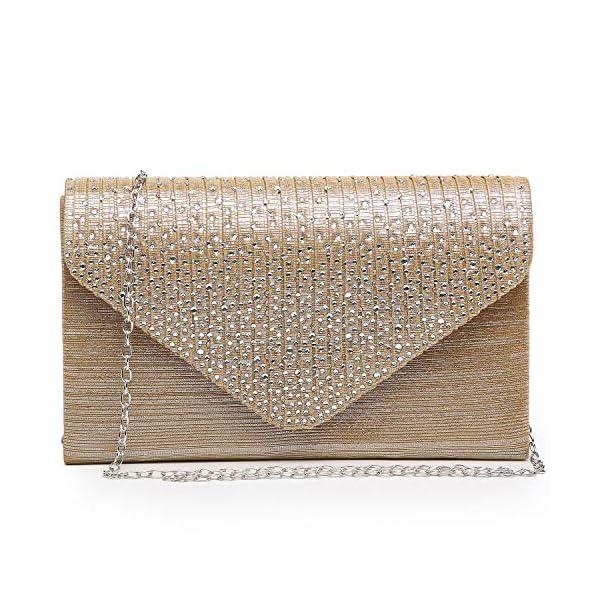 Fashion Shopping Women's Evening Bag Envelope Rhinestone Party Prom Clutch Handbag Wedding Purse