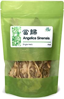 NEW PACKAGING Angelica Sinensis Root, Dang Gui Pian, Dong Quai Cut Slice 当归 4 oz.