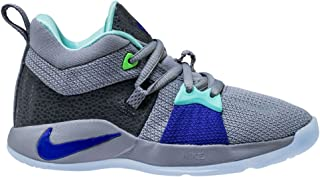 NIKE Kids' Preschool PG 2 Basketball Shoes (11K, Pure Platinum/Bright Turq)