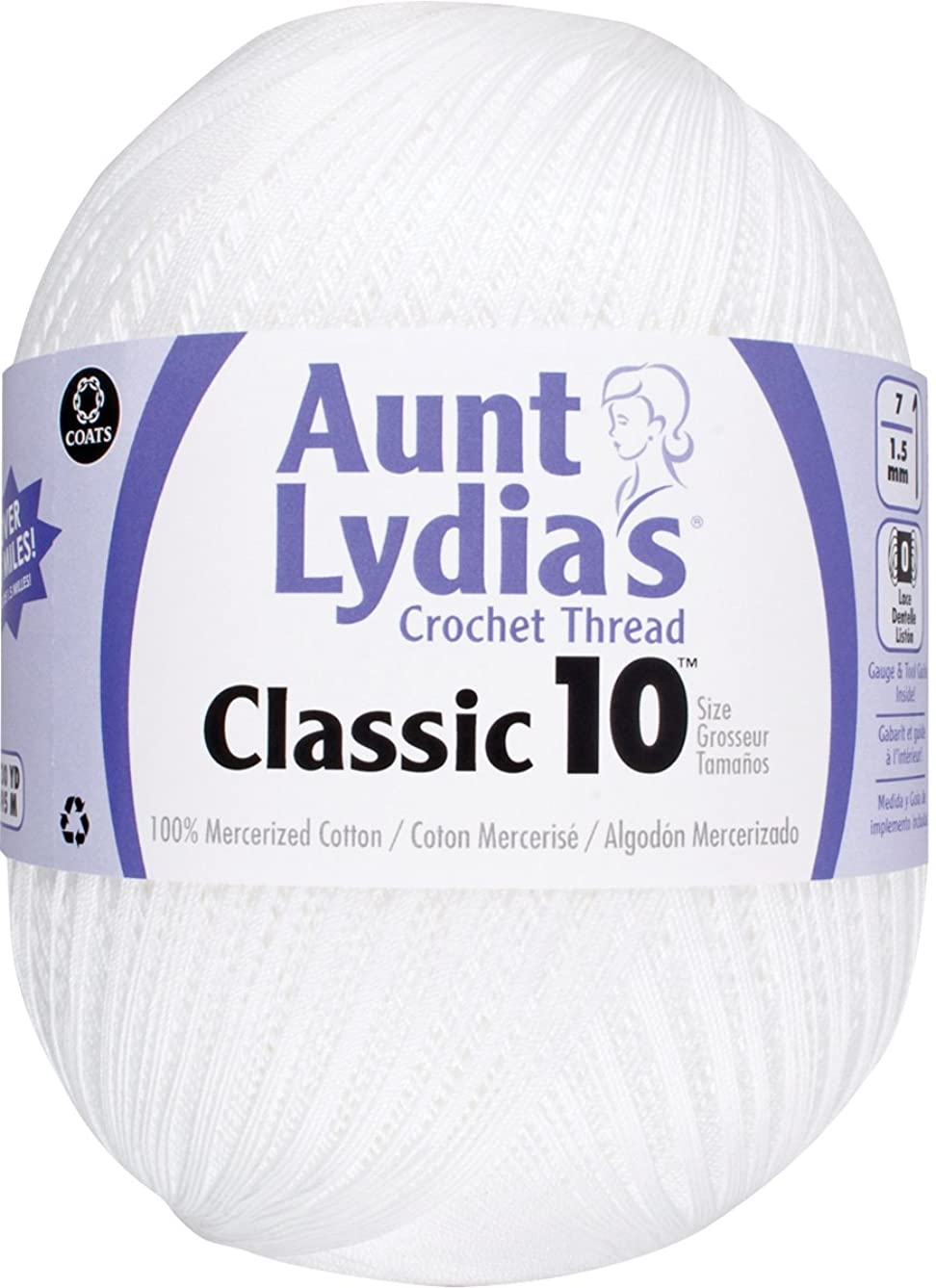 Aunt Lydia Jumbo Crochet Cotton, White