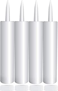 Empty Plastic Caulk Tubes, 11-Ounce (4-Pack); Refillable Sealant Caulking Tubes
