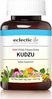 Eclectic Kudzu Root Freeze Dried Vegetables with Glass, Blue, 90 Count