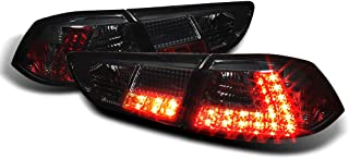 ACANII -For Smoke 08-17 Lancer Evolution EVO X 4B11 Lumileds LED Tail Lights Lamps Taillights Taillamps Driver+Passenger