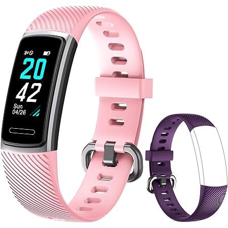 Yishark Pulsera Actividad Reloj Inteligente Mujer Fitness Tracker Niños Hombres Podómetro Reloj Deportivo Monitor de Sueño Pulsómetros Contador de ...
