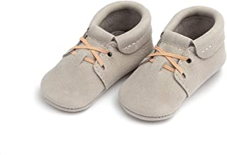 Soft Sole Leather Oxford Moccasins - Baby Girl/Boy Shoes - Infant Sizes 1-5 - Multiple Colors