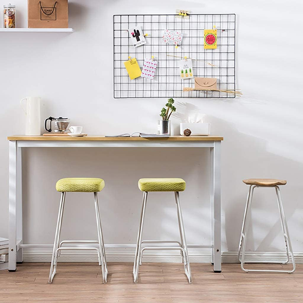Chaise multifonctionnelle Tabouret haut, chaises de cuisine à la maison de barre de petit déjeuner de siège tapissé par carré en métal de couverture (Color : #1) #8